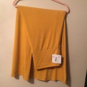 NWT: Lularoe mustard maxi skirt!